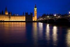 De horizon van Londen, huis van het parlement, de Big Ben Royalty-vrije Stock Foto's