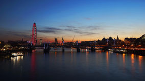 De horizon van Londen, nachtmening Royalty-vrije Stock Foto's