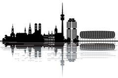 De horizon van München Royalty-vrije Stock Afbeeldingen