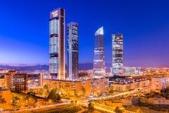 De horizon van Madrid, Spanje Stock Foto's