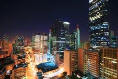 De horizon van Makati bij nacht royalty-vrije stock foto's