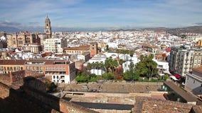De horizon van Malaga in Spanje stock video