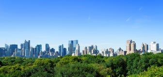 De horizon van Manhattan royalty-vrije stock afbeelding