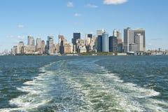 De horizon van Manhattan. Royalty-vrije Stock Afbeelding
