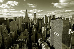 De horizon van Manhattan Stock Foto's