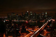 De horizon van Manhattan Stock Foto