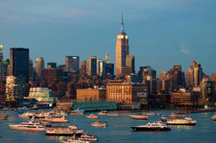 De horizon van Manhattan, de Stad van New York Stock Afbeelding
