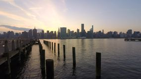 De horizon van Manhattan, de Stad van New York stock footage