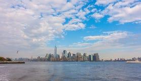 De horizon van Manhattan, de Stad van New York De V.S. Stock Afbeelding
