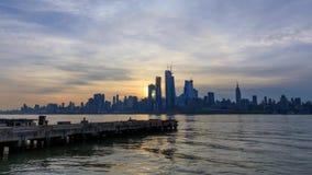 De Horizon van Manhattan van New Jersey stock videobeelden