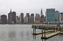 De horizon van Manhattan, NYC stock afbeeldingen