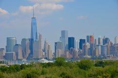 De horizon van Manhattan, NYC Royalty-vrije Stock Foto's