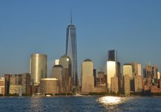 De horizon van Manhattan, NYC Royalty-vrije Stock Afbeeldingen