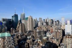 De horizon van Manhattan, NYC, de V.S. stock afbeelding