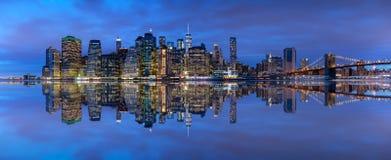 De horizon van Manhattan, de Stad van New York Royalty-vrije Stock Foto's