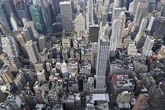 De horizon van Manhattan van de Stad van New York stock foto