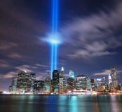 De horizon van Manhattan van de Stad van New York Stock Afbeeldingen