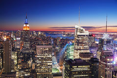 De Horizon van Manhattan van de Stad van New York Stock Afbeelding