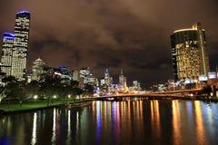 De horizon van Melbourne royalty-vrije stock afbeeldingen
