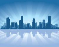 De horizon van Melbourne stock illustratie