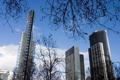 De horizon van Melbourne, Australië soutbank royalty-vrije stock foto's