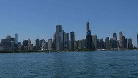 De Horizon van de mening van Chicago van Meer Michigan stock footage