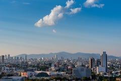 De Horizon van Mexico-City, het panorama van de binnenstad stock foto