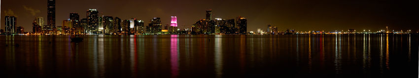 De Horizon van Miami Stock Afbeelding