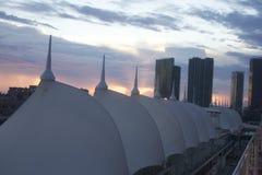 De horizon van Miami bij zonsondergang 3 stock fotografie