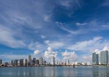 De Horizon van Miami in de loop van de dag Stock Afbeelding