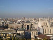 De horizon van Milaan Stock Afbeeldingen