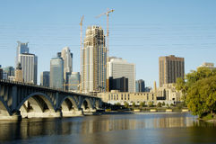 De horizon van Minneapolis   Stock Foto