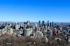 De horizon van Montreal in de winter royalty-vrije stock fotografie