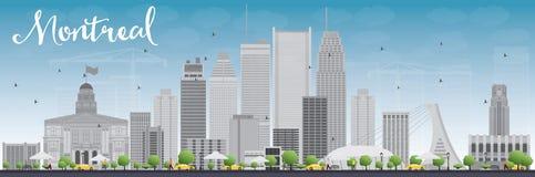 De horizon van Montreal met grijze gebouwen en blauwe hemel Royalty-vrije Stock Fotografie