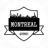 De Horizon van Montreal royalty-vrije illustratie