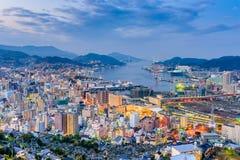 De Horizon van Nagasaki, Japan stock foto