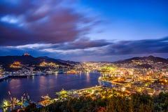De Horizon van Nagasaki Japan stock afbeeldingen