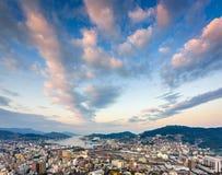 De Horizon van Nagasaki Japan royalty-vrije stock afbeeldingen