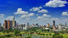 De horizon van Nairobi stock afbeeldingen