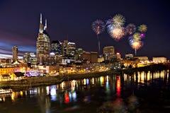 De horizon van Nashville bij schemering Royalty-vrije Stock Afbeelding