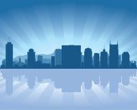 De horizon van Nashville, Tennessee Stock Afbeelding