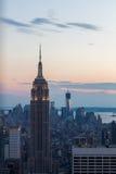 De Horizon van New York, de V stock afbeeldingen