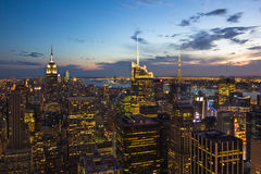De Horizon van New York, de V royalty-vrije stock afbeeldingen