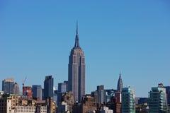 De Horizon van New York met de Bouw van de Staat van het Imperium royalty-vrije stock afbeeldingen