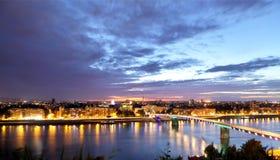 De horizon van Novi Sad Stock Foto's