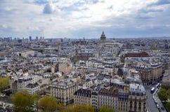 De Horizon van Parijs van Notre Dame de Paris Royalty-vrije Stock Afbeelding