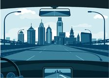 De horizon van Phladelphia vector illustratie