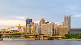 De Horizon van Pittsburgh, Pennsylvania van het Pari van Riverfront van de het Noordenkust Stock Foto