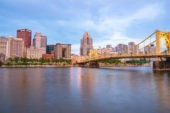 De Horizon van Pittsburgh, Pennsylvania van het Pari van Riverfront van de het Noordenkust Stock Afbeeldingen