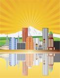 De Horizon van Portland bij de Illustratie van de Zonsopgang royalty-vrije illustratie